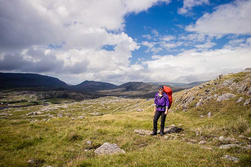 A mountain view on Harris -Solo walking the Hebridean Way, photo by Kathi Kamleitner