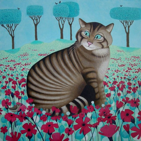 Ailsa Black - Scottish Wildcat painting