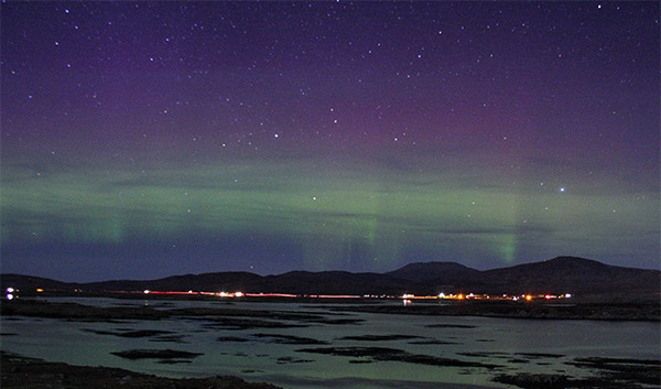 Aurora from South Lochboisldale, South Uist