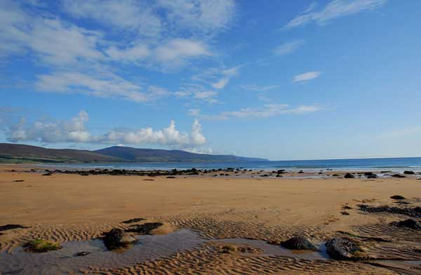 Things to do in Sutherland - Brora beach looking towards Loth