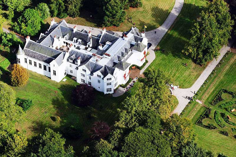Cairns House Inverness aerial view