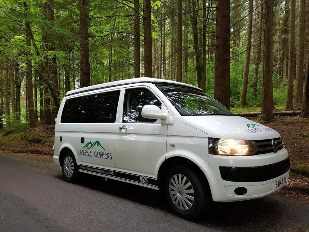 Campsie Campers Stirlingshire - campervan in forest