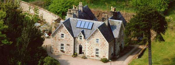 Aerial view of Culgower House, Loth, Sutherland