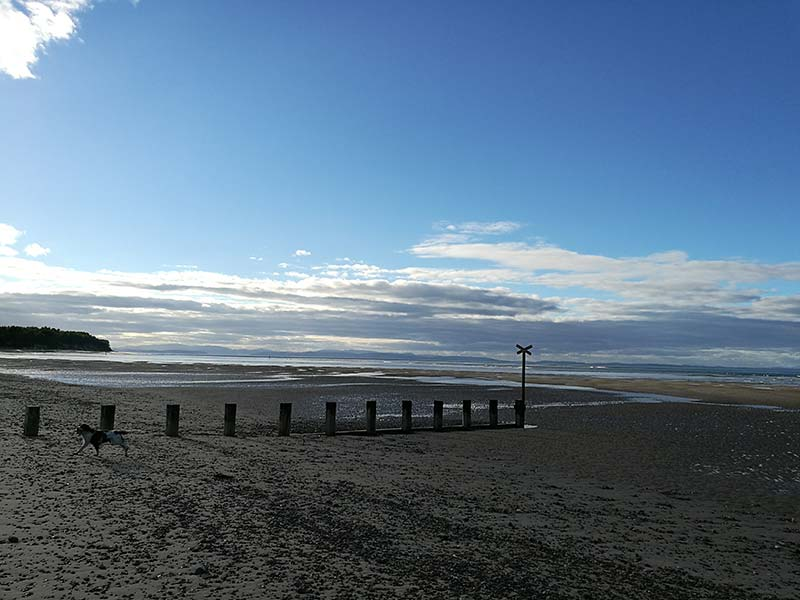 Findhorn beach with breakers