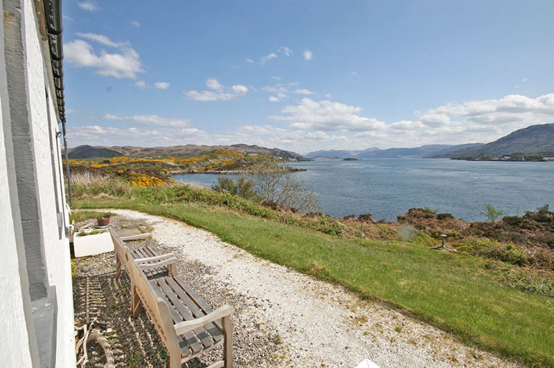 Gavin Maxwell Cottage Eilean Ban -Kyleakin Isle of Skye - view