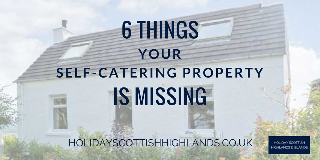 Things missing from self-catering holiday property inventory