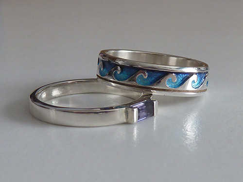 Scottish jewellery: Hebridean Jewellery Iolite Silver Ring & Sheila Fleet Breckon Ring