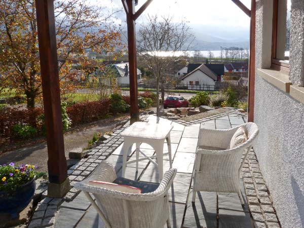 Little Danescroft Corpach Fort William view and outdoor seating