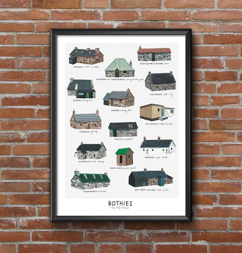 Scottish bothy poster