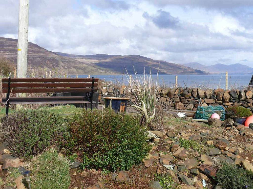 Scridain View holiday cottage garden view Isle of Mull