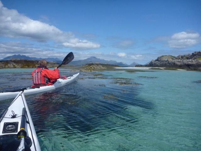 Sea kayaking Scotland Skye's west coast