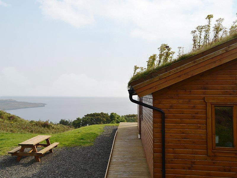 Seascape Staffin Skye cabins sitting out area
