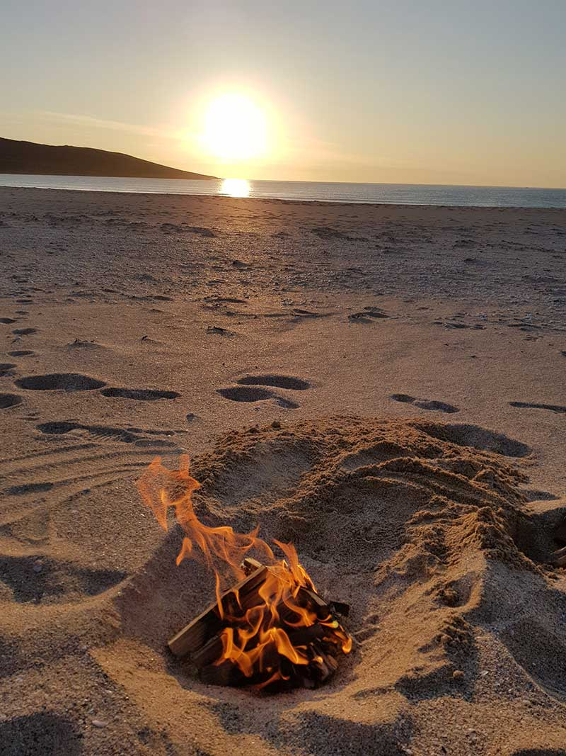 Things to do in Harris - Sunset at Scarista beach