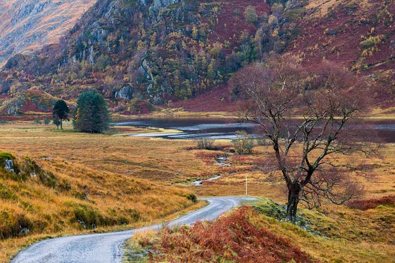 The road to Kinloch Hourn by Derek Beattie