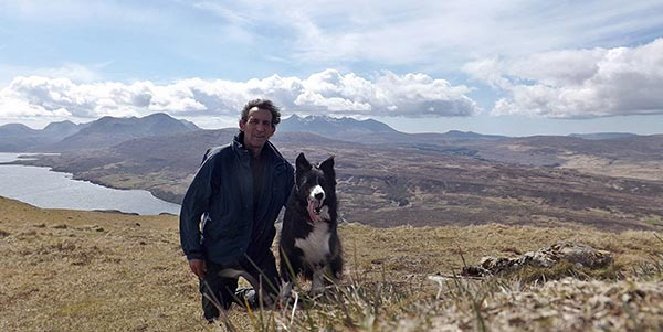 Steve Millar and Blaze the Border Collie
