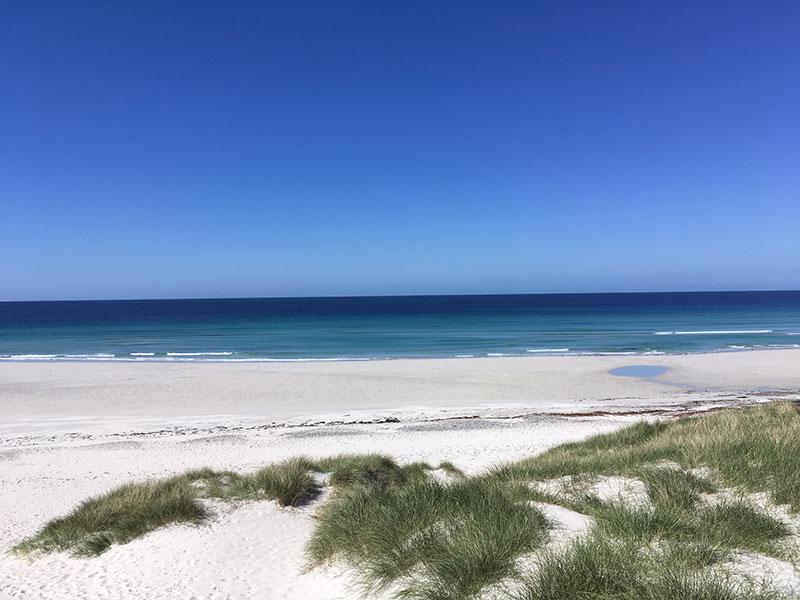 Traigh Eais Barra island beach
