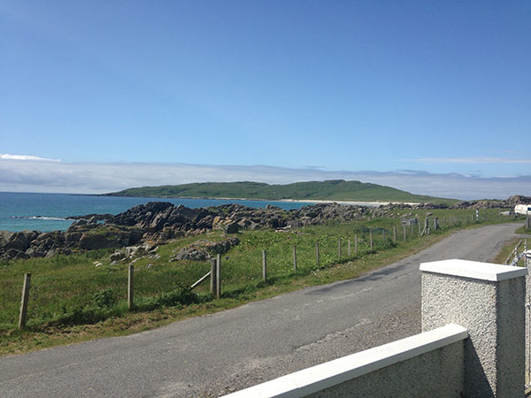 View from front garden of family home in West Hynish,Isle of Tiree