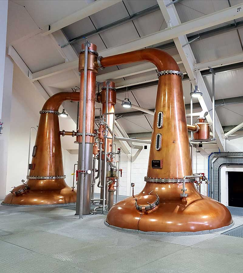 Whisky stills at Isle of Harris Distillery