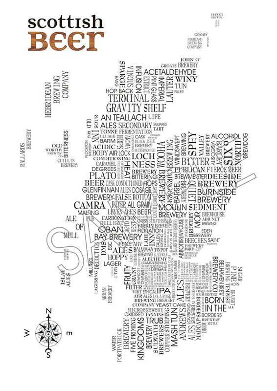 Scottish gifts - Scottish beer map