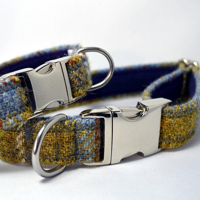 scottish products - Harris tweed dog collars