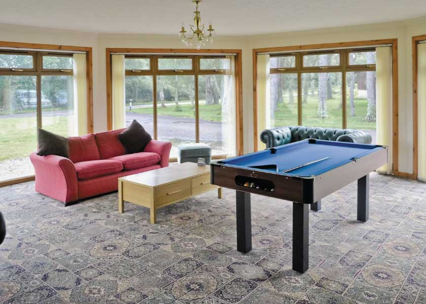 self-catering accommodation Sutherland Heatherwood House Dornoch sun room snooker table